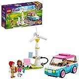 LEGO Friends L'Auto Elettrica di Olivia, Macchinina Giocattolo per Bambini di 6+ Anni, Set con 2 Mini Bamboline, 41443