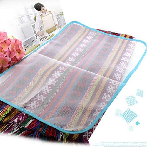 Koowaa Tragbares, hitzebeständiges Tuch Mesh-Bügelbrett Matte Stoffbezug Schützen Sie die Bügelunterlage Eisenablage zum Dampfpressen auf der Tischplatte oder dem Bett