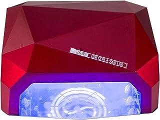 Secadores de UñAs Lámpara de diamante de inducción LED Lámpara de clavo sin descoloramiento de ABS temporizado desmontable con placa de fondo magnética Lámpara de fototerapia 85 / 240v