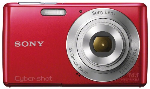 Sony Cyber-shot DSC-W620 14.1 MP Digital Camera with 5x Optical Zoom and 2.7-Inch LCD (Red) (2012 Model)