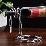 Magica sospensione creativo armadietto del vino vino rack ornamenti moda europee Wine Rack a testa in giù vino ripiano in vetro vino rack casa,Metallkette