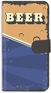手帳型 ミラータイプ スマホケース Galaxy S6 SC-05G 用 [BEER ビール・ブルー] ビンテージ アメリカン レトロ USA SAMSUNG サムスン ギャラクシー エスシックス docomo スタンド スマホカバー 携帯カバ...