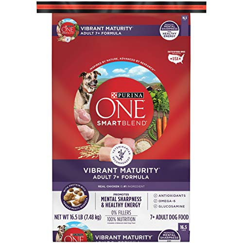 Purina ONE Senior Dry Dog Food, SmartBlend Vibrant Maturity Adult 7+ Formula - 16.5 Lb