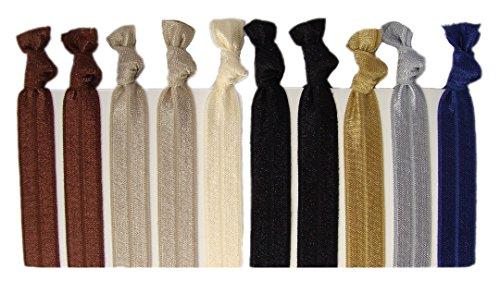 Ribbon Hair Ties - Neutral Tones 10 Pack By Kenz Laurenz