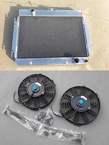 Radiador de aluminio + ventilador 64-1967 Chevy Chevelle/El Camino 63-1968 Biscayne/Impala