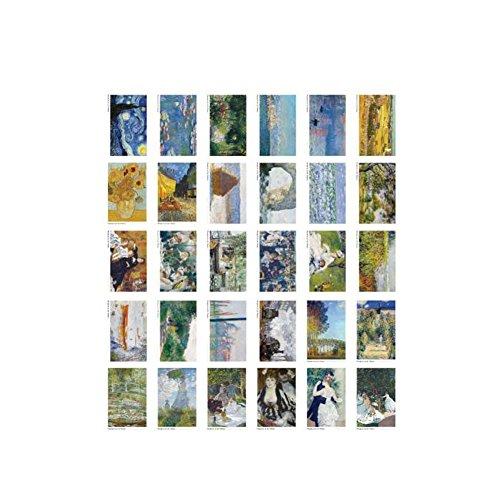 Postales Tarjetas de felicitación de estilo de arte Conjunto de 30