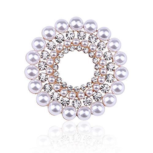Broches de flores de color plateado de cristal de diamantes de imitación para mujeres, hombres, boda, fiesta nupcial, ramo redondo, broche, Pin transparente
