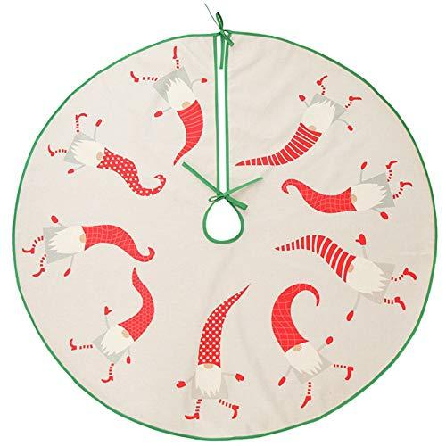 Choinki Spódnica 90cm / 35.4in Lniana Beztwarzowy Santa Drzewo Spódnica Christmas Decoration Fartuch na imprezę wakacyjną wystrój domu,Beige