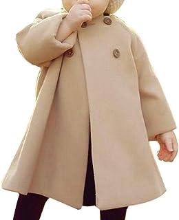 Manteau de Cape, Automne Hiver Filles Enfants Bébé Chic Manteau Veste à Bouton Manteau Chaud Outwear BaZhaHei