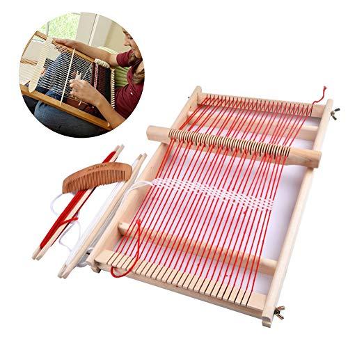 手織り機 卓上手織機 編み機 はたおりき 卓上織り機 糸付き 扱いやすい 簡単 Wetanly 手芸道具 木製 操作簡単 おもちゃ DIY工芸品作り