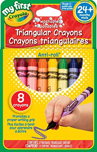 3 x Crayola My First Washable 8-Count Triangular Crayons…(Packaging May VARY)