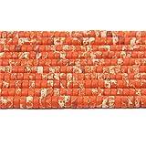 2 * 2 * 4 mm perline lucide all'ingrosso 15.5 'piccolo filo di pietra di rodonite abaco perline per bracciali fai da te donne orecchini-arancio imperiale, 2x2x4mm