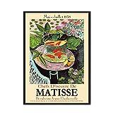 Abstrakte bunte Aquarium Matisse Poster Wandkunstdruck Leinwand Ölgemälde Wohnzimmer Bild Wand...