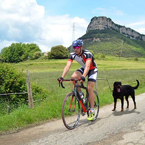 YooGoPet Fahrradhalter Fahrradleine Hund Biker Set, Hundeleinenführungsstange, Fahrradleine mit Abstandhalter, Zugkraft 110-lbs