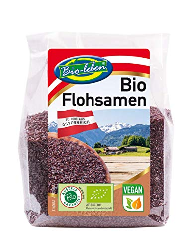 BIO schwarze Flohsamen aus Österreich, Psyllium, ballaststoffreich, glutenfrei, verdauungsfördernd, Schleimwirkung, Rohkost, 7x150g