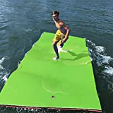 GOOGIC Floating Water Pad 3-Layer XPE Foam Water Floating Mat with Storage Straps,12x6 FT...