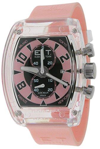 LOCMAN Elba Team - Reloj de mujer con crono, de resina, con fecha ET3700