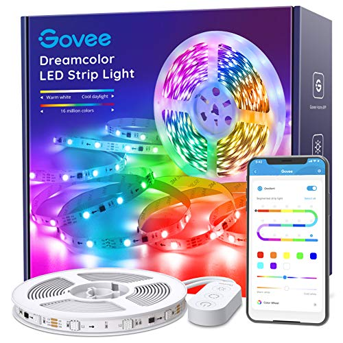 Govee Rgbic Led Strip Lights 16.4 Feet, App Control, for Bedroom, Kitchen, Room 1