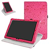 Mama Mouth Acer Iconia One 10 B3-A40 Rotating Funda, 360° Rotación PU Cuero con Soporte Funda Caso Case para 10.1' Acer Iconia One 10 B3-A40 Android Tablet,Rosa