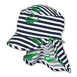 Sterntaler Baby-Jungen Schirmmütze mit Nackenschutz Mütze, Blau (Marine 300), XXXX-Large (Herstellergröße: 49)