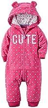 Carter`s Baby Girls` 1 Piece Fleece Hood Jumpsuit (12m, Pink)