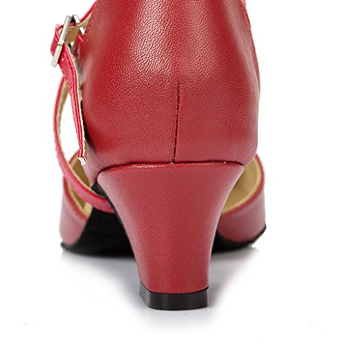 Meijili ,  Damen Tanzschuhe , rot – rot – Größe: 40 - 3