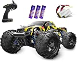 4x4 & 40KM/H SUPER FAST REMOTE CAR: Powered by strong 380 DC brushed motor,which can perform 7.4V 20000 revs per minute that makes a huge enhancement for the acceleration, this 4 wheel drive remote control truck can reach maximum speed up to 40+KM/H ...