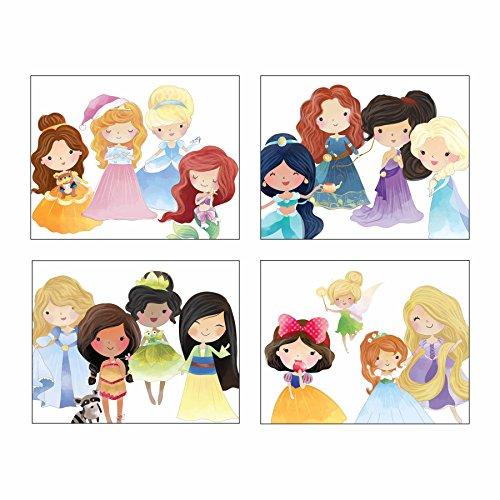 "Pop Art Nursery Print Set ~ Cute Princess (8""×10"" Set of 4)"