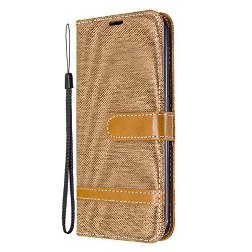 Hülle für Galaxy A01 Hülle Leder,[Kartenfach & Standfunktion] Flip Case Lederhülle Schutzhülle für Samsung Galaxy A01 - EYBF030097 Braun