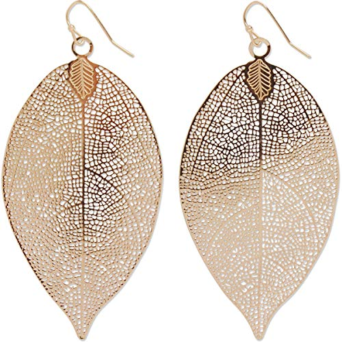Humble Chic Filigree Leaf Earrings -...