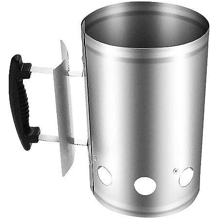 Phonleya Encendedor de Chimenea con Mango de Seguridad - Encendedor de carbón para Parrilla de Barbacoa de Inicio rápido para Acampar 11 x 6,92 x 11,2 Pulgadas (L x W x H)