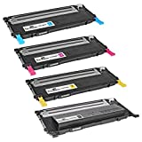 Speedy Inks Compatible Toner Cartridge Replacement for Samsung CLP-325 (1 Black, 1 Cyan, 1 Magenta, 1 Yellow, 4-Pack)