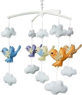 Jouet de décoration de lit bébé Mobile musical musical pour berceau fait main en tissu non tissé R04