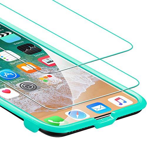 ESR Panzerglas kompatibel mit iPhone 11 pro/XS/X [2 Stück] - 9H Displayschutzfolie [Face ID kompatibel] mit Montageset und blasenfreier Montage - Bildschirmschutz für das iPhone 11 pro/XS/X