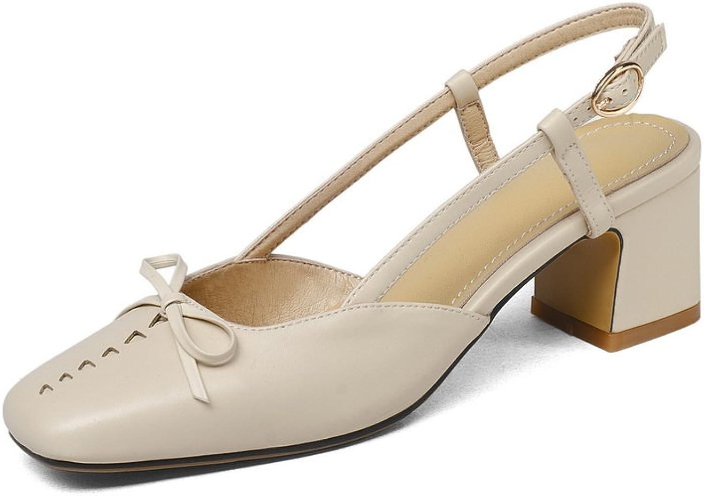 BalaMasa Womens Sandals Kitten-Heel Huarache Urethane Sandals ASL04830