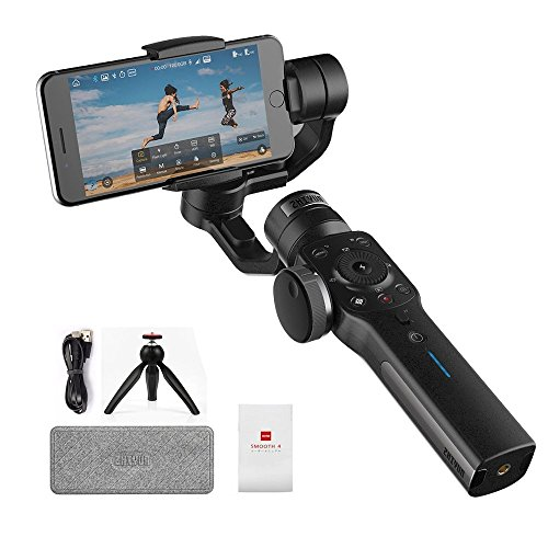 zhiyun Smooth-4 3-Axis Handheld Gimbal Stabilizer for iPhone X 8 7 Plus 6 Plus Smooth 4 Smooth 4 Gimbal(Black) (Not Support Android Temporarily)