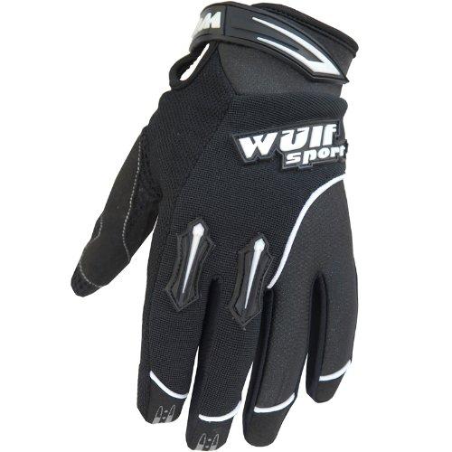 Wulf Sport Kids Stratos MX Guantes Junior Motocross Motocicleta Quad Biking Guante - Negro - XXXS 3-5 años