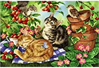 3000個の大人のパズル猫の睡眠創造的な漫画の動物はそれぞれユニークです、技術は各部分が完全に組み合わされることができることを意味します