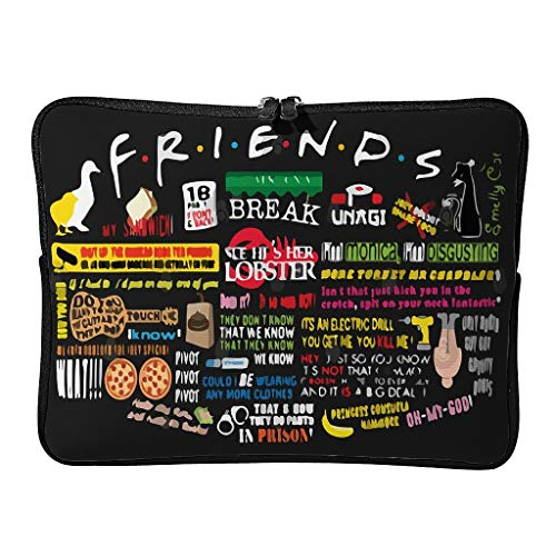 Laptop Bags Friends Fun Modern Regular Durable - Funny Patterns Laptop Protector Suitable for Indoor white4 13 Zoll