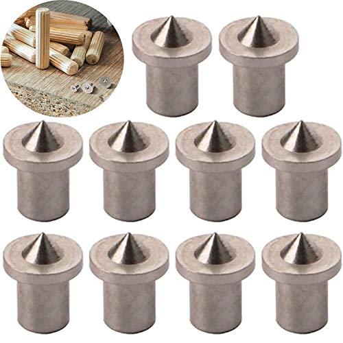 CESFONJER 10 piezas Herramienta de alineación de la espiga de, centros de clavijas de madera, 4 mm