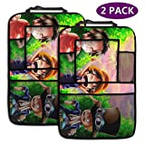 Nightmare Before Christmas Car Accessories Kick Mats Back Seat Protector with Increased Tablet Holder AGnight 2 Pack Backseat Car Organizer