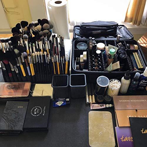 Rownyeon化粧ポーチメイクブラシポーチケースブラシ入れ化粧筆収納自立式メイクアップアーティストブラシホルダー美容师プロ用14ポケット大きめ(K401)