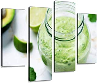 Greek Yogurt Avocado Cilantro Lime Dressing Canvas Wall Art Hanging Paintings Modern Artwork Abstract Picture Prints Home Decoration Gift Unique Designed Framed 4 Panel