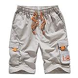 Pantalones Cortos Holgados de Verano para Hombre, Pantalones Cortos de Moda de Talla Grande con decoración multibolsillo, Pantalones Casuales de Pierna Recta 7XL