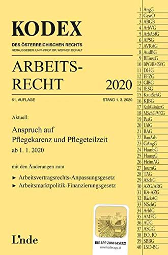 KODEX Arbeitsrecht 2020 (Kodex des Österreichischen Rechts)