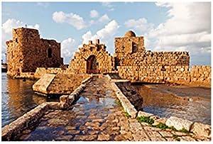 تابلوه المناظر الطبيعية لموقع لبنان 34 سم × 24 سم - 2724820088151