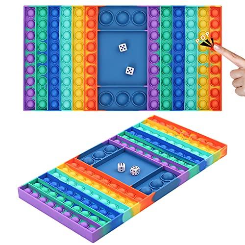 Juguete sensorial de gran tamaño para reventar, juguetes de silicona grandes para el estrés, tablero de ajedrez, juguetes sensoriales para padres e hijos, juguetes para aliviar el estrés para niños, niñas, adultos, hombres y mujeres