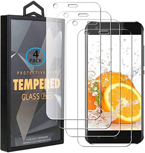 Ycloud 4 Pack Vidrio Templado Protector para Blackview A7 / Blackview A7 Pro, [9H Dureza, Anti-Scratch] Transparente Screen Protector Cristal Templado para Blackview A7