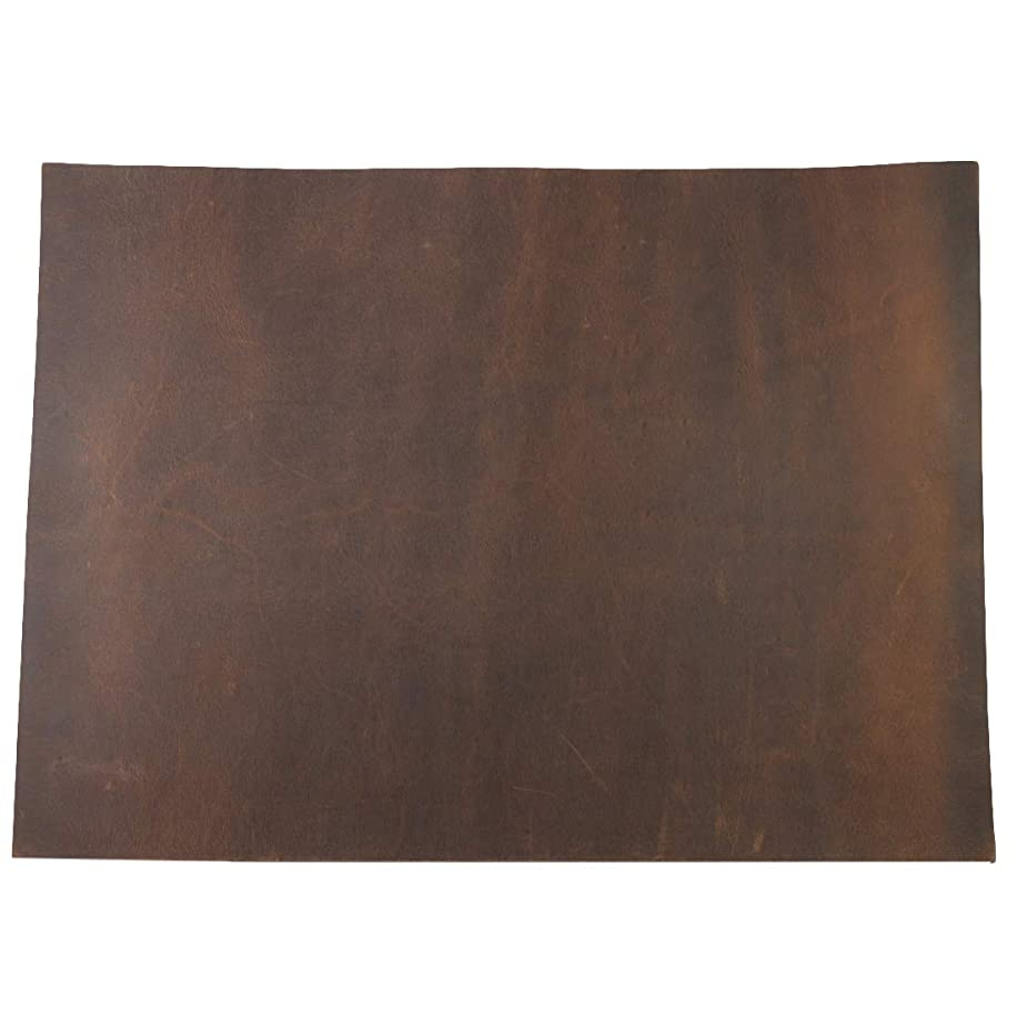 Hide & Drink, Thick Leather Square (8 x 11 in.) for Crafts/Tooling/Hobby Workshop, Heavy Weight (3.5mm) :: Bourbon Brown