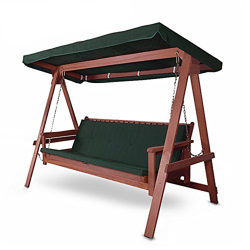 Hecht Hollywoodschaukel Bahara Lux Garten-Schaukel Meranti-Holz 4-sitzer (ca. 235 x 120 x 178 cm (BxTxH))